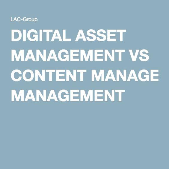 DIGITAL ASSET MANAGEMENT VS CONTENT MANAGEMENT Asset Management - asset management resume