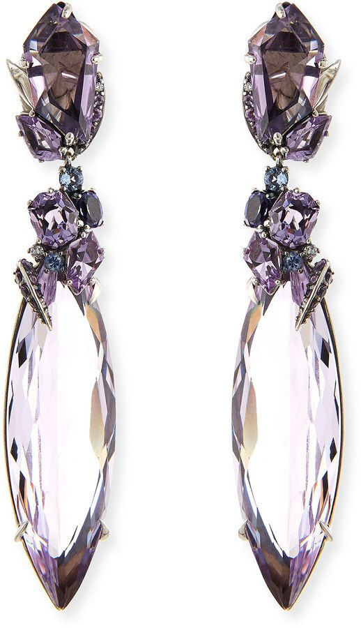 Alexis Bittar Fine 2-Drop Amethyst Cluster Earrings