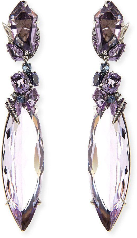 Alexis Bittar Fine 2-Drop Amethyst Cluster Earrings