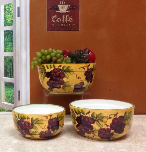 Grape Kitchen Items  Tuscany Grape Kitchen Decor  Grape  ~ 155534_Kitchen Decor Ideas Grapes