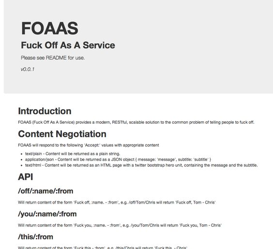 FOAAS The most important API for developers facing deadlines I - sample physical therapy evaluation