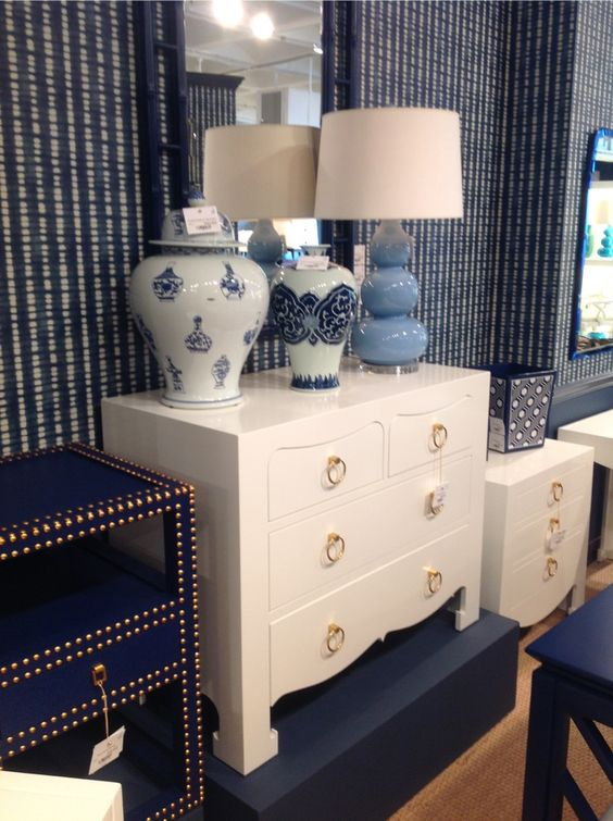 A classic dresser in white. White furniture is back