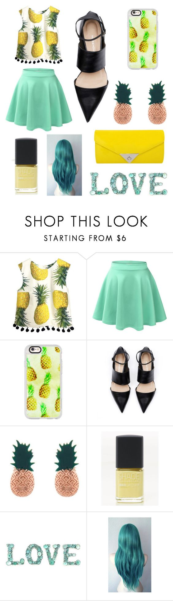 """""""Pinapple"""" by simonesaintjones13 ❤ liked on Polyvore featuring LE3NO, Casetify, Aamaya by priyanka, Lane Bryant and JNB"""