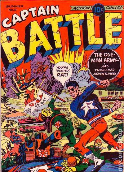 Image result for captain battle golden age superhero