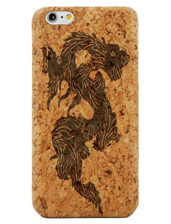 Dragon- Laser Engraved Wood Phone Case (Maple,Cherry,Black,Cork)