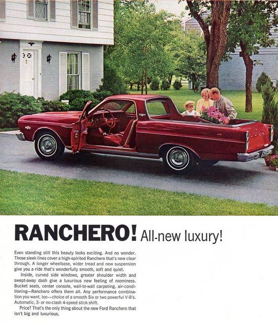 "Vintage  Original - 9 3/4 "" x 12 ""  1966  FORD  RANCHERO  ADVERTISEMENT"