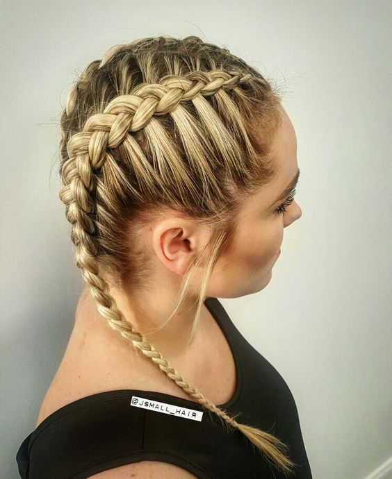 Khloe Kardashian inspired braid: