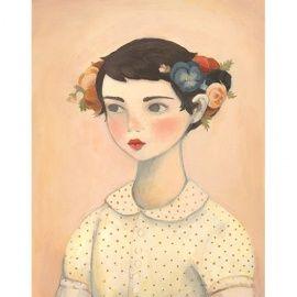 The Black Apple `Prent Flower Girl` | Vers van de pers | Petite Louise