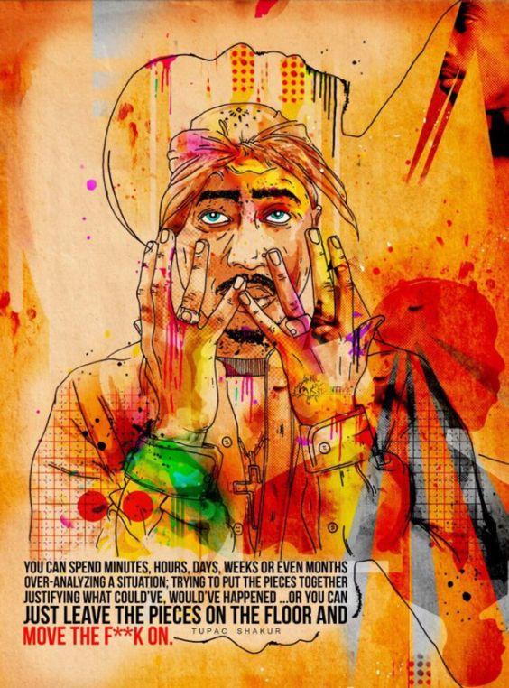 Tupac Shakur - Inkquisitive illustrations