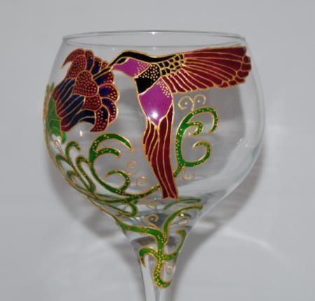 Copas pintadas a mano buscar con google vidrio pintado for Copas decoradas a mano