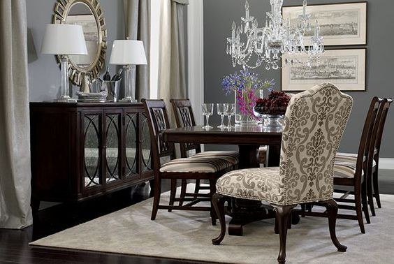 25 Elegant And Exquisite Gray Dining Room Ideas: Dining Rooms, Ethan Allen And Chairs On Pinterest