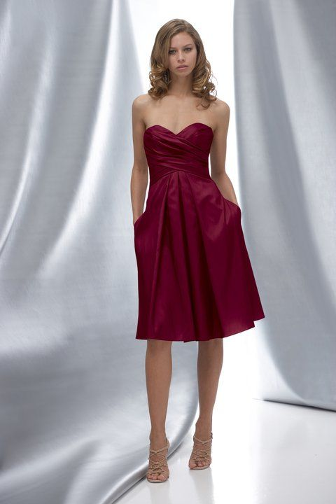 Wtoo Style 6168 Fabric - Satin Back Taffeta  Colourway - Maroon