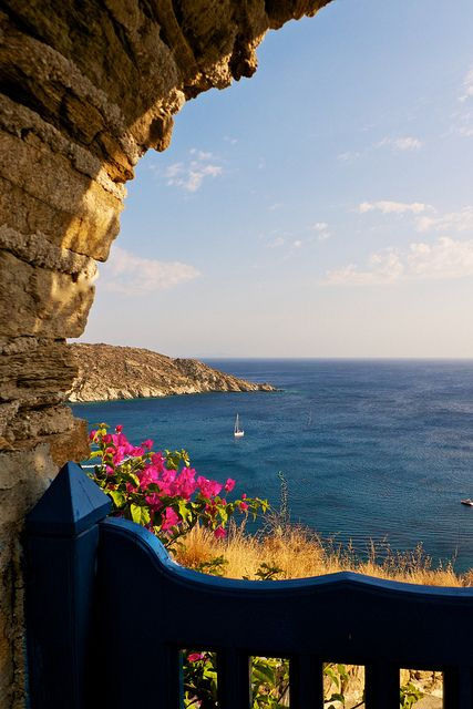 Ios Island, Greece  What a view to wake up to! No one could ever be mad about anything if they wake up to this everyday....how serene!: