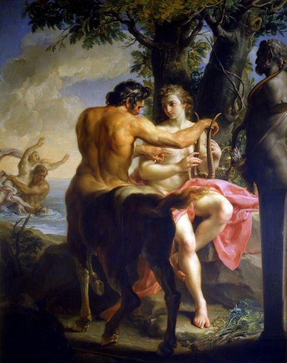 Achilles and the Centaur Chiron, 1746 by Pompeo Batoni (Italian 1708–1787):