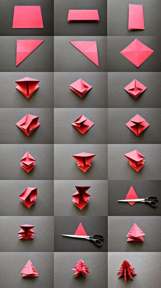 Albero Di Natale Origami.Tutorial Origami Albero Di Natale Il Blog Di Tici Natale Artigianato Creazioni Con Carta Idee Natale Fai Da Te