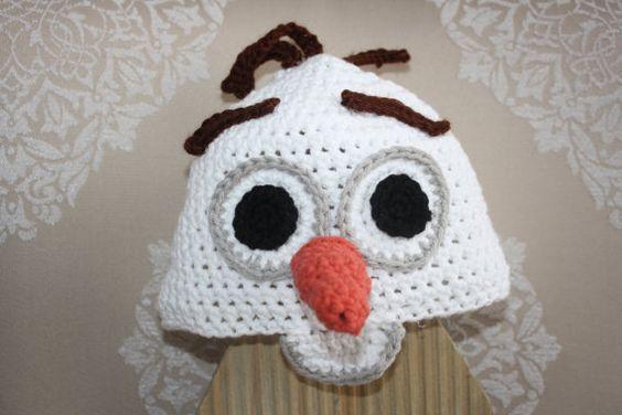 Frozens Olaf Snowman Hat EASY Crochet PDF Pattern ...