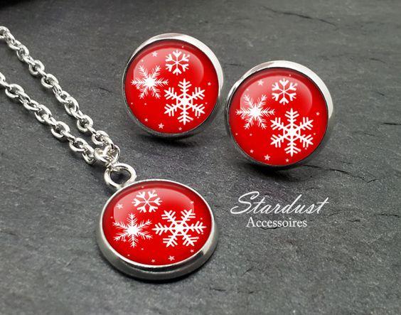 Schmuckset silber ✿ Schneeflocke I ✿ von Stardust Accessoires auf DaWanda.com