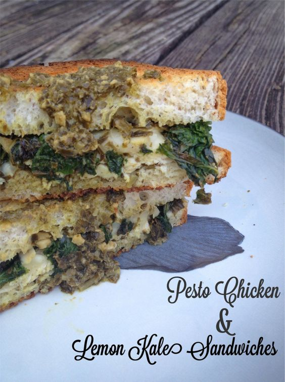 GF Pesto Chicken & Lemon Kale Sandwiches