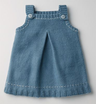 modele tricot robe chasuble bebe