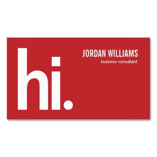 A Powerful Hi  Modern Business Card  Red  Business Cards