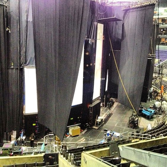 Directly behind the 55th #GRAMMYs stage