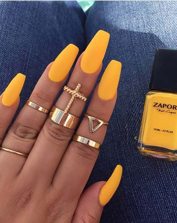 Beautiful Nails Art Design Ideas You Can Try It Now Yellow