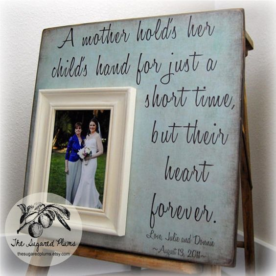 Wedding Gift For Mother: Bride Gifts, Mother Of The Bride And Personalized Picture