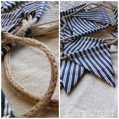 nautical bunting - Like the idea of the rope instead of fabric.