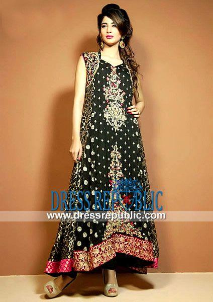 Latest Party wear Pakistani Dresses in Black by Cimyra Buy Online ...