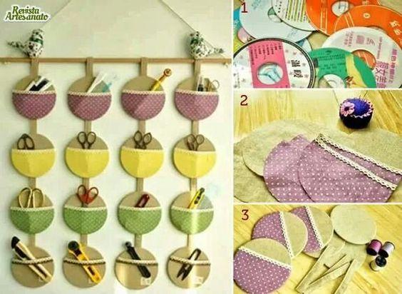 Reciclar cd: Diy Ideas, Good Ideas, Ideas Para, Cds Ideas, Recycled Cd, Brilliant Ideas, Craft Ideas