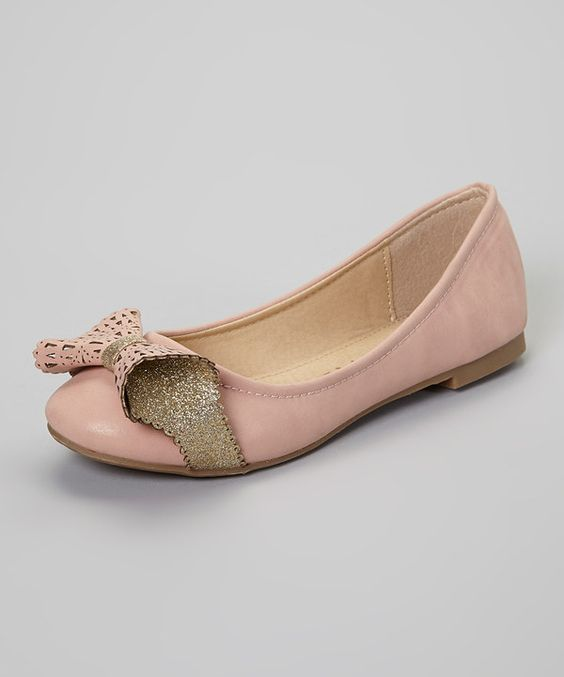 This Code VIII Pink & Gold Wrap Bow Flat by Code VIII is perfect! #zulilyfinds
