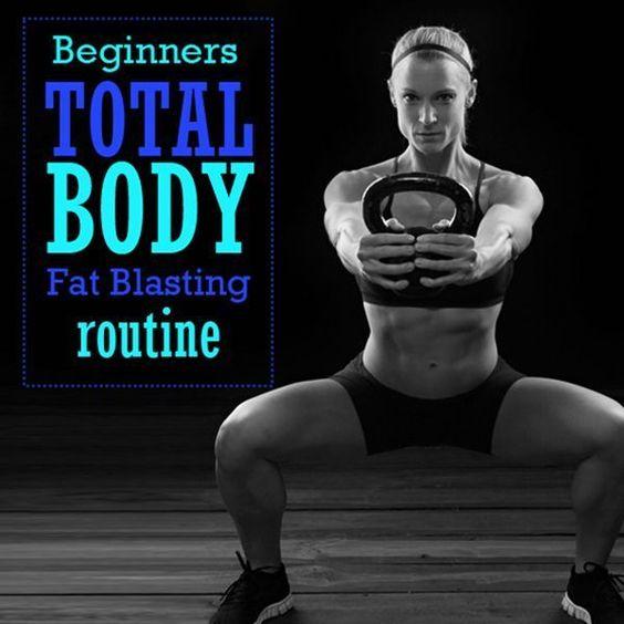 Full Body Kettlebell Workout For Beginners: Beginner's Total Body Fat Blasting Routine