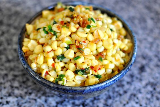 Bắp Xào Tôm Bơ – Vietnamese Sauteed Corn with Dried Shrimp, Scallions, and Butter