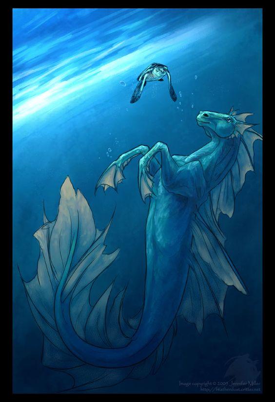 hippocamp | SciFi and Fantasy Art Hippocampus by Jennifer Miller (Nambroth):