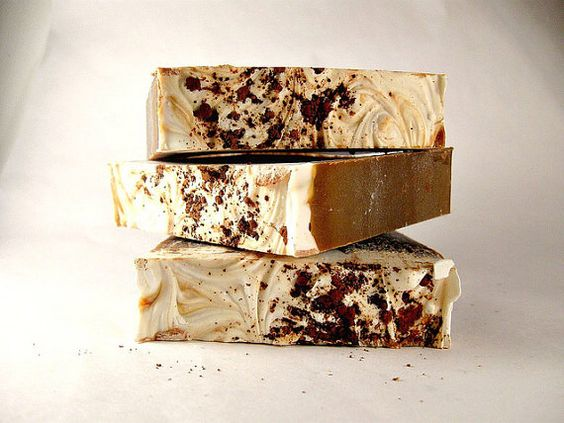 soap- infused with cocoa and rum