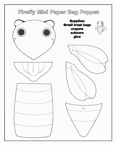 Related Keywords & Suggestions For Insect Lunch Bag Puppets