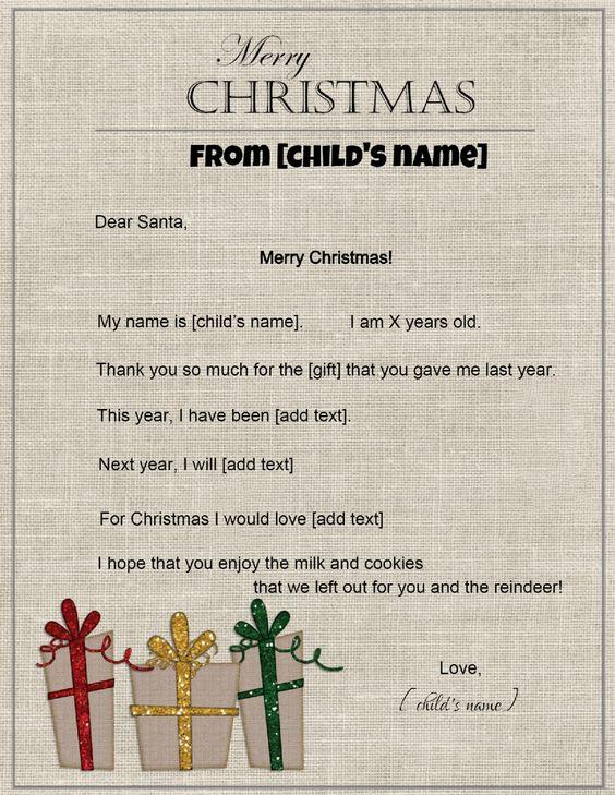 Santa letter template Christmas Stationery Pinterest - santa letter template