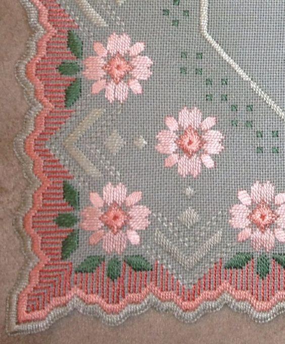 Único centro de mesa florales noruego Hardanger con por MnMom23