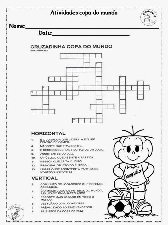 Dani Educar Cruzadinha Copa Do Mundo Desenhos De Educacao Fisica Educacao Fisica Infantil Planos De Aula De Educacao Fisica