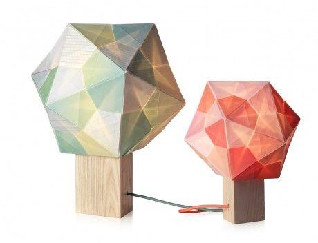 Multi-colored origanmi polyhedra | Note Design Studio