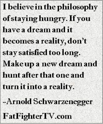 Motivational quote from Arnold Schwarzenegger #fitfluential #fitness #quotes