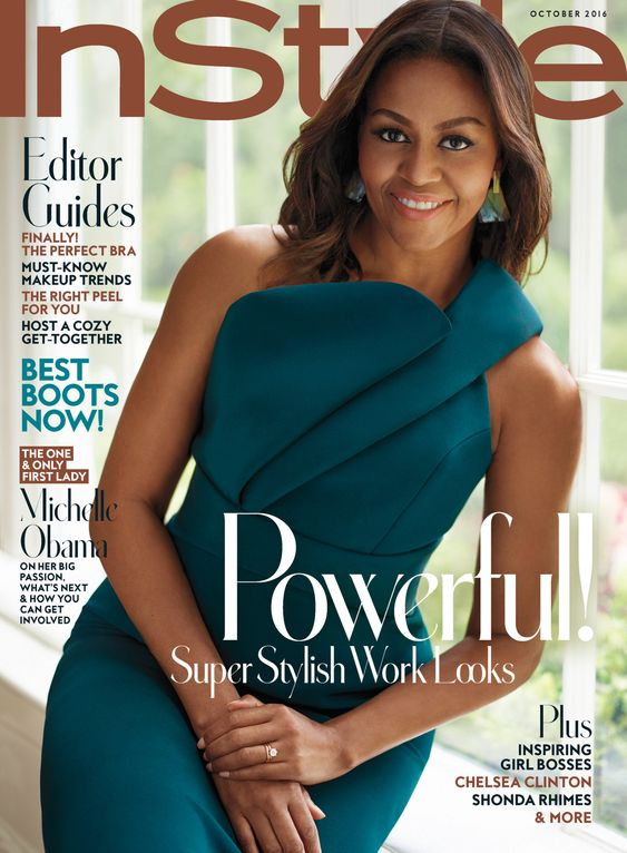 Michelle Obama for InStyle US, october 2016