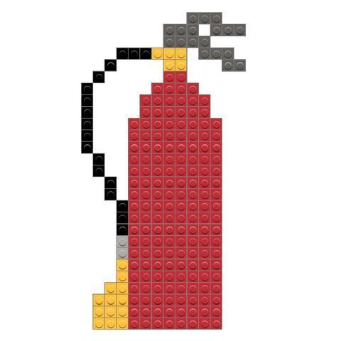 Fire Extinguisher Pixel Art Fire Extinguisher Cross Stitch
