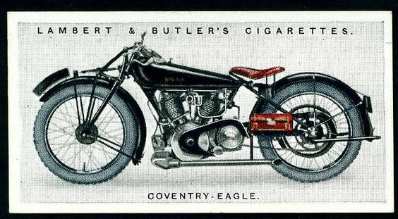 Cigarette Card - Coventry Eagle Motorcycle