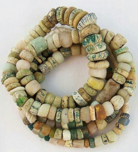 Ancient Djenne Mali trade beads.