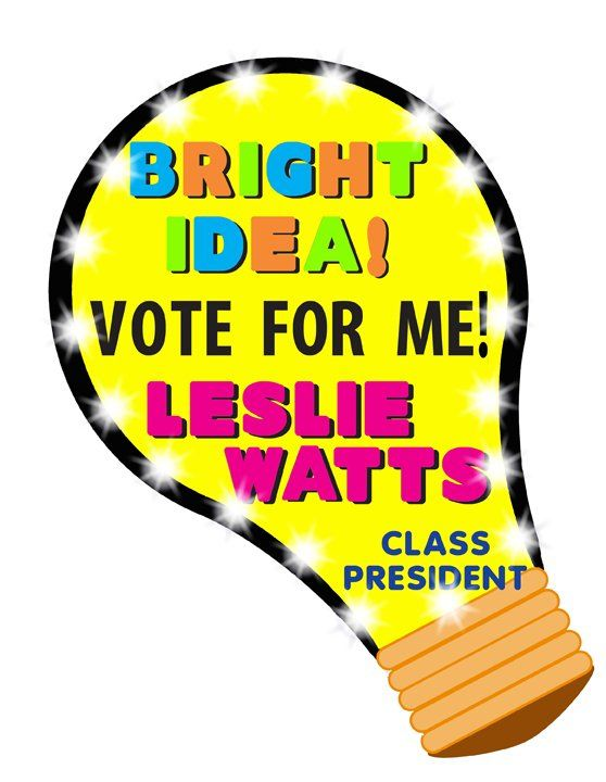 Make A Vote For Me Poster School Election Poster Ideas