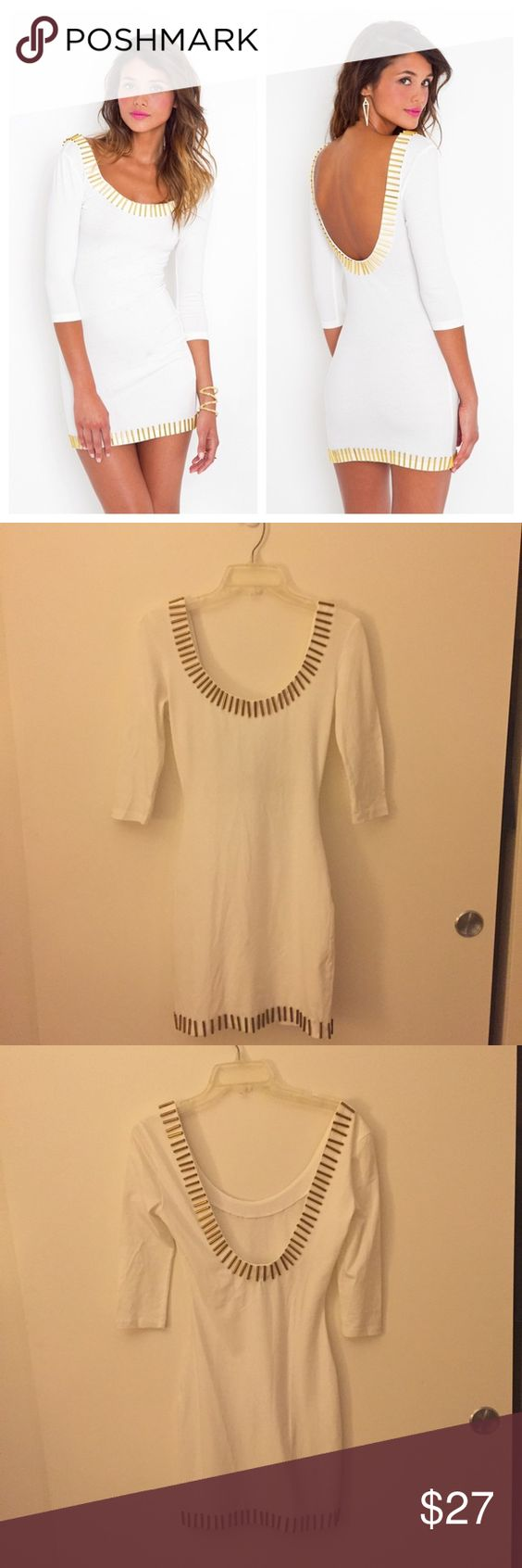 White rush dresses