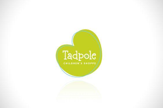 Tadpole Children's Shop Logo #design #logo #blonde #marketing #advertising #business #identity #brand