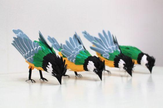 Beautiful Paper Bird Sculptures by Illustrator Diana Beltran Herrera