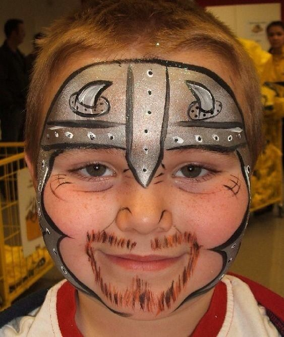 Knight in Shining Armor face paint for kids.  #Halloween #Costumes #HalloweenCostumesForFamily Sherman Financial Group